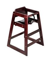 High Chair Wood Mahogany K.D Height 29''
