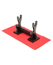 Black Wood Knife Stand For 2 P