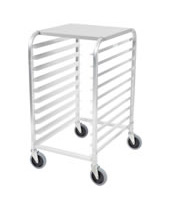 Equipment Stand Rack 10 Rows with Aluminum Top