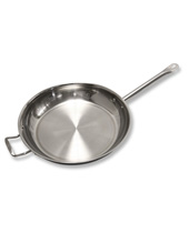 Fry Pan 7 Qt, 36cm 3 Ply S/S With Helper Handle