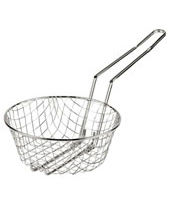 Culinary Basket - Coarse Mesh Nickel Plated Steel Wire Diam. 8