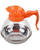 Acrylic Coffee Decanter Orange With S/S Bottom Black Handle (For Decaf)