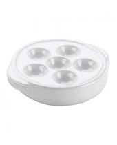 Snail Plate White Ceramic W/ 6 Holes