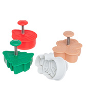 Christmas Cutter Set 4 Piece Made Of Food Grade Plastic