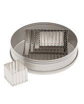 Fluted Square Cutter Set 5 Pieces, Stainless Steel