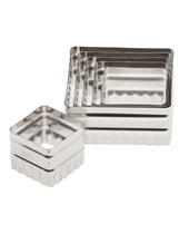 Double Sided Square Cutter Set 6 Piece, Stainless Steel