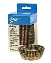 Burgundy Stripe Paper Baking Cups 1.94