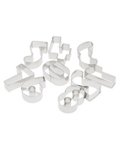 Numbers Cutter Set 9 Pcs, Stainless Steel 3