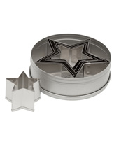 Plain Star Cutter Set 5 Pcs, Stainless Steel