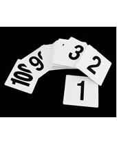 Plastic Table Numbers 4x4
